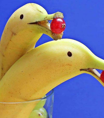 ТОП-4 способа сделать дельфина из банана