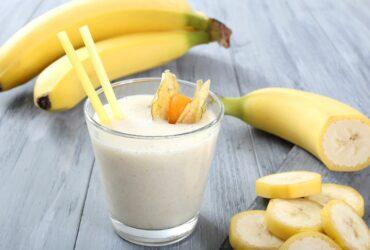 Рецепт молочно-бананового коктейля